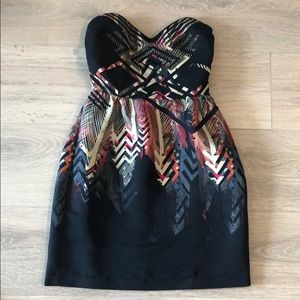 NWT Ecoté Strapless Tribal Dress
